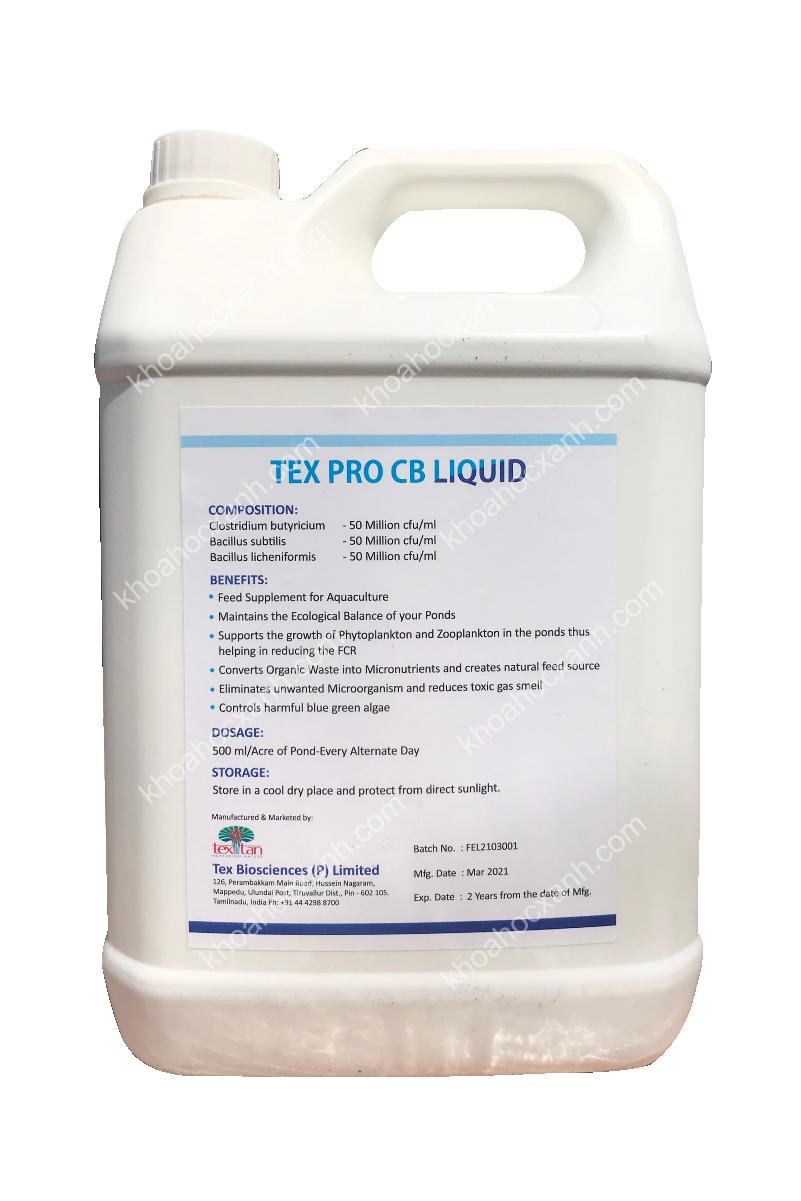 TEX PRO CB LIQUID MS - Men vi sinh dạng nước